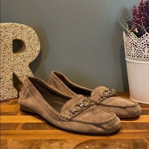 Coach Grey Suede Loafers